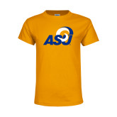 Youth Gold T Shirt-ASU Logo