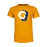 Youth Gold T Shirt-Ram Logo