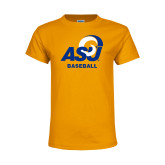 Youth Gold T Shirt-ASU Baseball