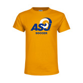 Youth Gold T Shirt-ASU Soccer