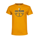 Youth Gold T Shirt-Rams Basketball