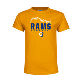 Youth Gold T Shirt-Rams Baseball