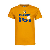 Youth Gold T Shirt-Rams Volleyball