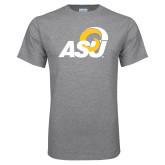 Grey T Shirt-ASU Logo