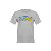 Youth Grey T-Shirt-Arched Angelo State University Rams