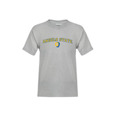 Youth Grey T-Shirt-Arched Angelo State w/ Ram