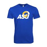 Next Level SoftStyle Royal T Shirt-ASU