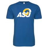 Next Level SoftStyle Royal T Shirt-ASU Logo