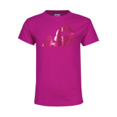 Youth Cyber Pink T Shirt-ASU Logo  Foil