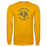 Gold Long Sleeve T Shirt-Angelo State Ram