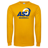 Gold Long Sleeve T Shirt-ASU Baseball