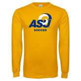 Gold Long Sleeve T Shirt-ASU Soccer