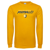 Gold Long Sleeve T Shirt-Rams Football