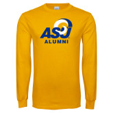 Gold Long Sleeve T Shirt-ASU Alumni