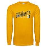 Gold Long Sleeve T Shirt-Class of Design, Personalized year