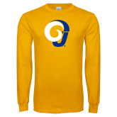 Gold Long Sleeve T Shirt-Ram Logo