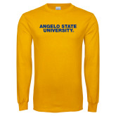 Gold Long Sleeve T Shirt-Angelo State University
