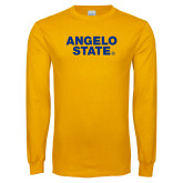 Gold Long Sleeve T Shirt-Angelo State