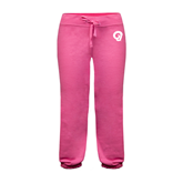 ENZA Ladies Fuchsia Banded Fleece Capri-Official Logo