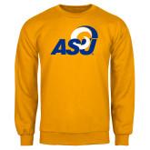 Gold Fleece Crew-ASU Logo