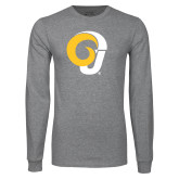 Grey Long Sleeve T Shirt-Ram Logo