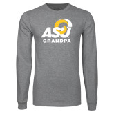 Grey Long Sleeve T Shirt-ASU Grandpa