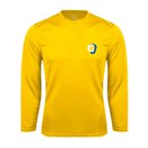 Syntrel Performance Gold Longsleeve Shirt-Official Logo