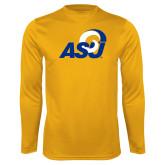 Performance Gold Longsleeve Shirt-ASU Logo