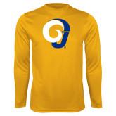 Performance Gold Longsleeve Shirt-Ram Logo