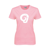 Ladies Pink T-Shirt-Official Logo