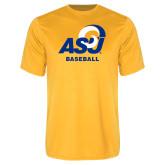 Performance Gold Tee-ASU Baseball