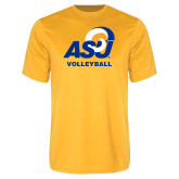Performance Gold Tee-ASU Volleyball