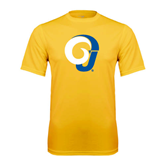 Syntrel Performance Gold Tee-Official Logo