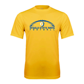 Syntrel Performance Gold Tee-Arched Football Design
