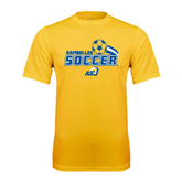 Syntrel Performance Gold Tee-Soccer Swoosh Design