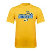 Syntrel Performance Gold Tee-Soccer Swoosh Design
