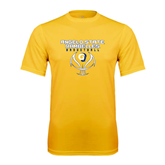 Syntrel Performance Gold Tee-Basketball Stacked Design