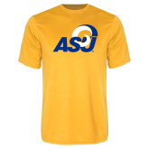 Performance Gold Tee-ASU Logo