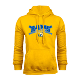 Gold Fleece Hoodie-Baseball Crossed Bats Design