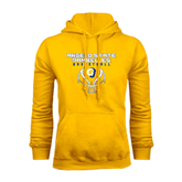 Gold Fleece Hoodie-Basketball Stacked Design