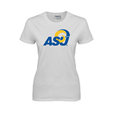 Ladies White T Shirt-ASU