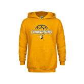 Youth Gold Fleece Hoodie-Womens Soccer Champions