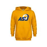 Youth Gold Fleece Hoodie-ASU Logo
