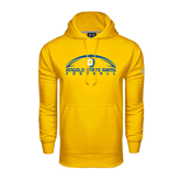 Under Armour Gold Performance Sweats Team Hoodie-Arched Football Design