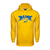 Under Armour Gold Performance Sweats Team Hoodie-Baseball Crossed Bats Design