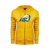 ENZA Ladies Gold Fleece Full Zip Hoodie-ASU