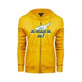 ENZA Ladies Gold Fleece Full Zip Hoodie-Track and Field Design