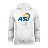 White Fleece Hood-ASU