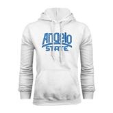 White Fleece Hoodie-Angelo State