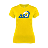Ladies Syntrel Performance Gold Tee-ASU